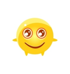 Content round character emoji vector