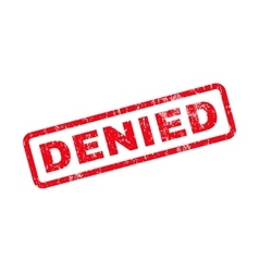 Denied Text Rubber Stamp vector image vector image
