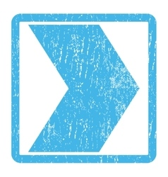 Direction right icon rubber stamp vector