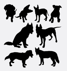 Dog pet animal silhouette 11 vector image vector image