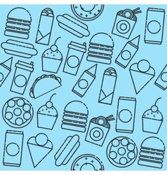 Fast food icon pattern vector