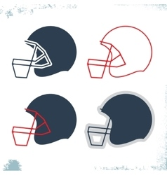 Football helmet icon vector