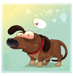 Funny dog with balloon vector
