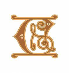 golden letter c vector image vector image