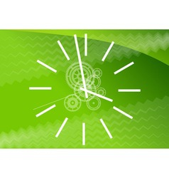 green watch vector image
