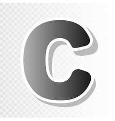 letter c sign design template element new vector image