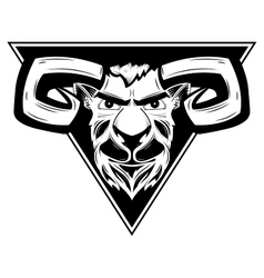 logo with the image of a ram vector image