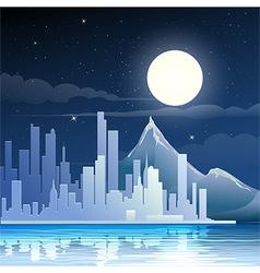 Midnight landscape vector image vector image