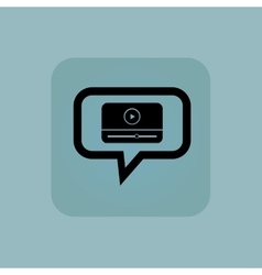 Pale blue mediaplayer message icon vector