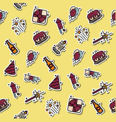 party concept icons pattern vector image