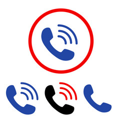 Phone call flat icons vector