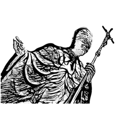 Pope john paul the second vector