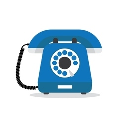 Retro styled blue telephone vector