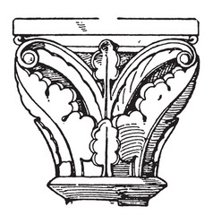 romanesque capital is found in cloisters of a vector image vector image
