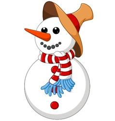 Snow man cartoon vector