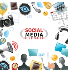 Social media template vector