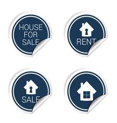 sticker of house for sale and rent vector image vector image