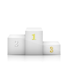 White Olympic Pedestal With Numbers vector image