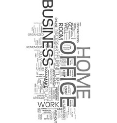 Your home business office text word cloud concept vector