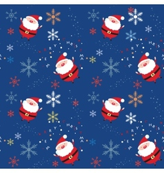 Seamless pattern with santa vector