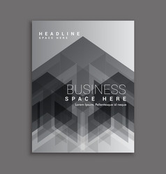 Black abstract business magazine cover template vector