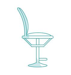 Blue silhouette shading cartoon elegant dining vector