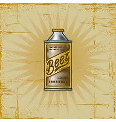 Retro beer can vector