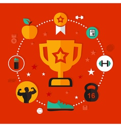 Award sports vector image