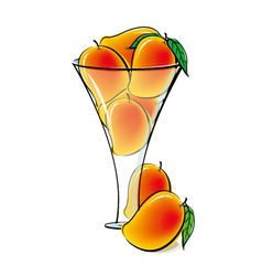 Mangos in glass vector