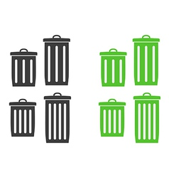 Trash can silhouette vector
