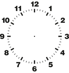 Template of clock dial vector image