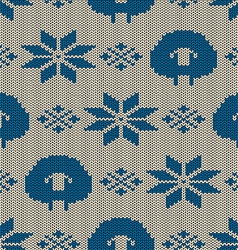 Scandinavian seamless knitted pattern vector