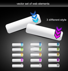 Set of different style web buttons vector