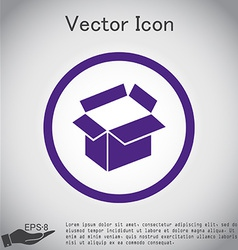 Opened cardboard box vector