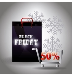 Black friday shopping vector