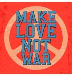 Vintage love poster vector image