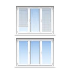 Plastic Windows Jalousies 2 Realistic Icons vector image
