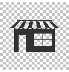 Store sign  dark gray icon on vector