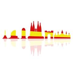Barcelona skyline vector
