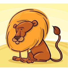 African Lion Cartoon vector image vector image