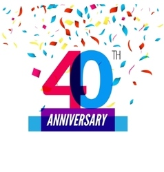 Anniversary design 40th icon anniversary vector image