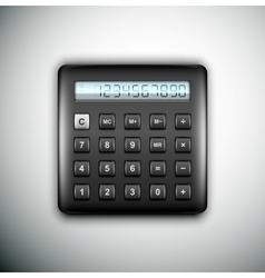 Black calculator vector