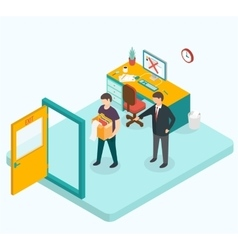 Boss dismissed employee isometric 3d vector