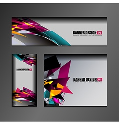 business banner design vector image vector image