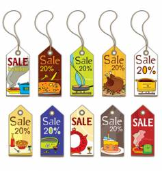 colorful food tags vector image vector image