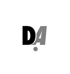 Da d a black white grey alphabet letter logo icon vector