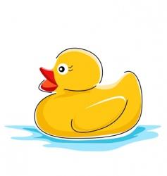 Duck in water vector