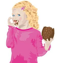 Easter girl cartoon vector image vector image