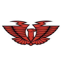 emblem eagle vector image vector image