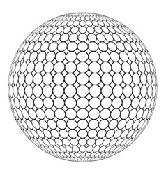 globe 3d sphere with ring mesh on the surface vector image